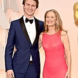 Ansel Elgort brought his mom, Grethe Barrett Holby, as his date to the Academy Awards.