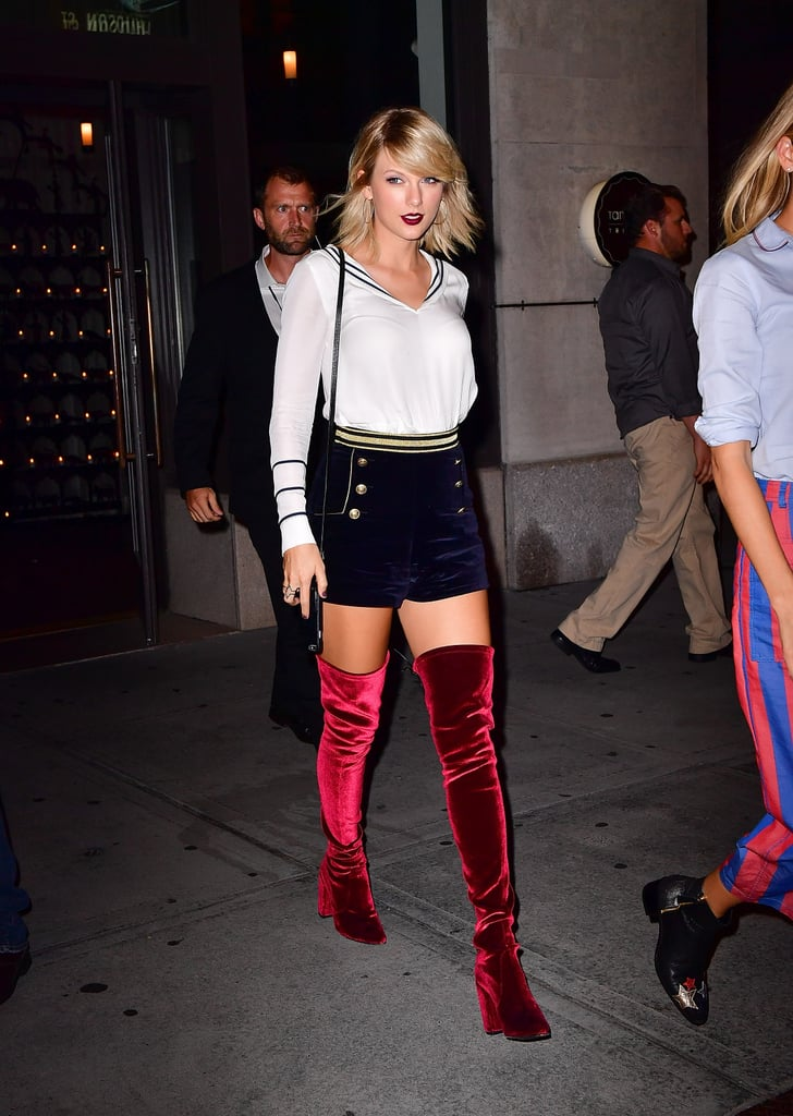 936e7ee5 Taylor Swift at Tommy Hilfiger's Fashion Show in NYC 2016 | POPSUGAR ...