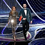 Chris and J Lo Hit the Stage Looking Like the Stars They Are
