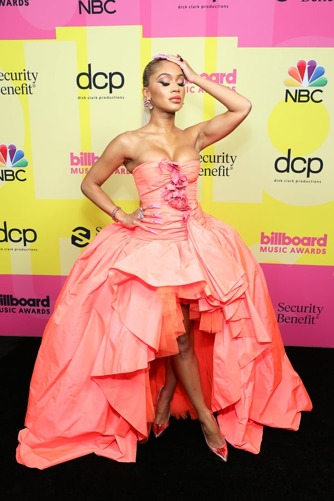 Saweetie's Electric Pink Manicure at Billboard Music Awards