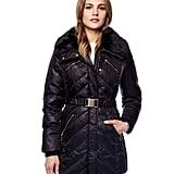 We love the slightly utilitarian feel and the gold hardware on this Michael Michael Kors Belted Puffer Coat ($395).