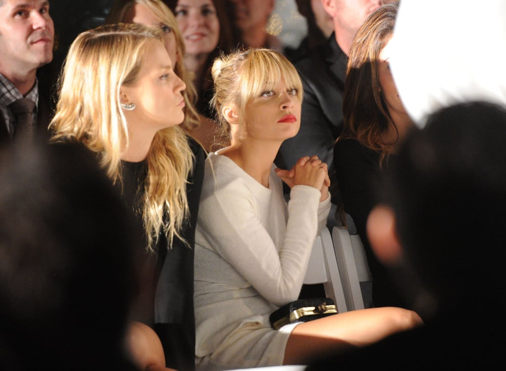 Nicole Richie checked out a Yigal Azrouel charity fashion show at the London Hotel in LA last night. The event benefited the Children's Institute and also brought out Lauren Conrad, Rumer Willis, and Amy Smart. Nicole was decked out in white for the evening, and she showed off her bangs, which she's been rocking all month. The busy mom threw a hat over her new hairstyle, though, during a recent outing with her little ones. Nicole and her kids Harlow and Sparrow dined out at Cafe Med on Monday following a family trip to the pumpkin patch over the weekend. Joel Madden joined them for the festive day after wrapping up his tour with Good Charlotte in Moscow.
