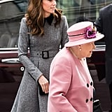 Kate Middleton Gray Coat Dress March 2019