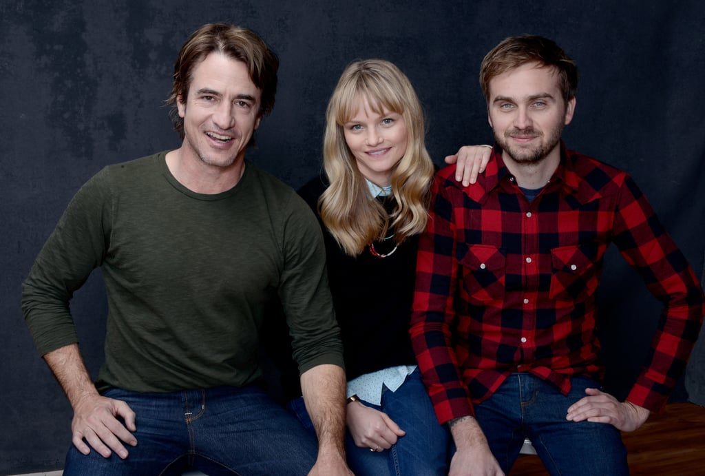 Dermot Mulroney, Lindsay Pulsipher, and director Calvin Reeder of The Rambler represented the film inside the Sundance studio.