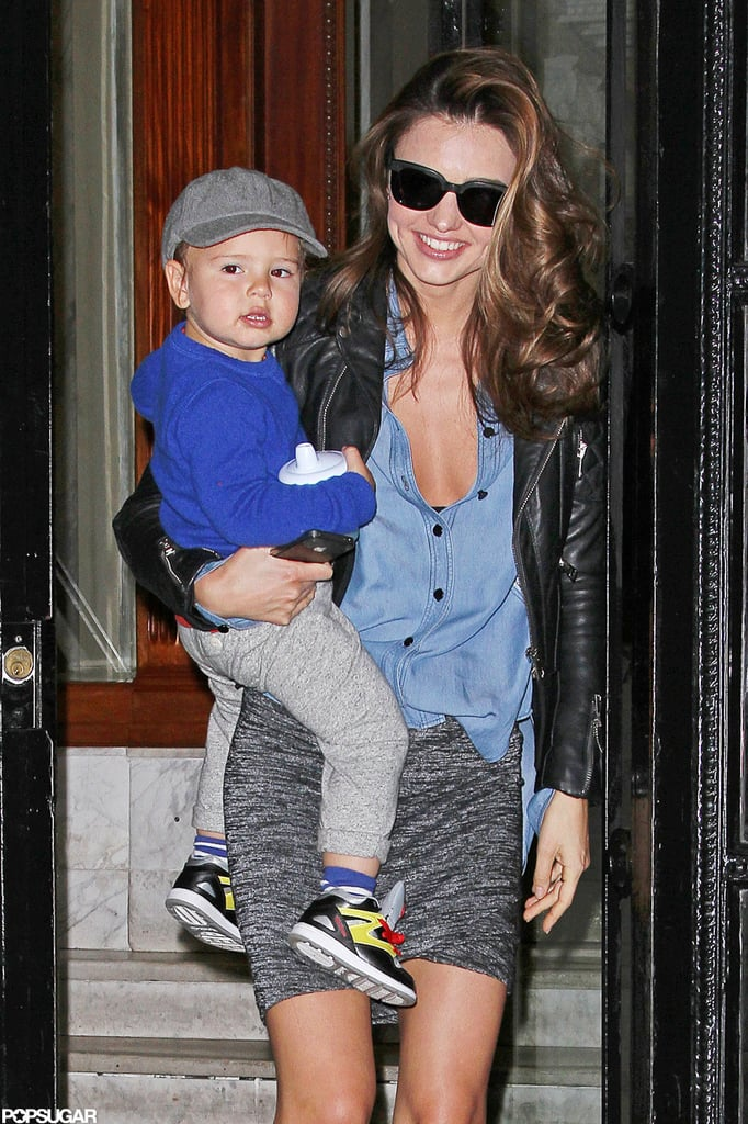 Miranda Kerr and Flynn were smiling from ear to ear when they ran errands together in NYC in November 2012.