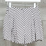 The fun polka dots would look easy against a gray t-shirt and a pair of Converse or dressed up with a pretty collared button-down and oxfords.  Mikkat Market Polka Dot Shorts ($32)