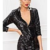 Superdown By The Way. Simone Sequin Blazer Dress