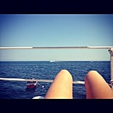 Jessica Alba admired the view while sunning.  Source: Instagram user jessicaalba