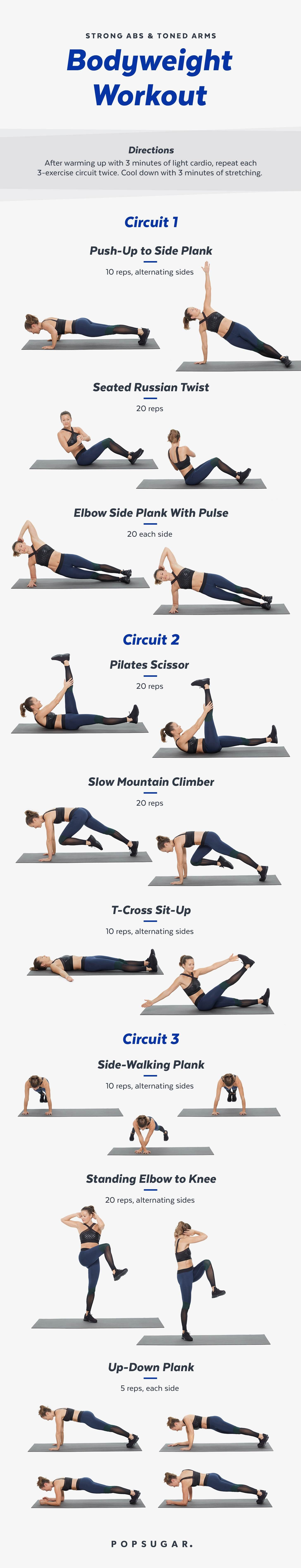 image regarding Printable Arm Workouts identify Printable Weight Exercise For Abdominal muscles and Palms POPSUGAR Physical fitness