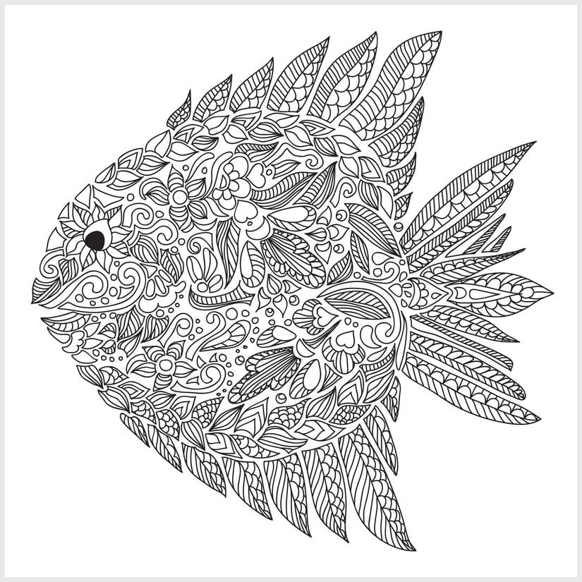 Free colouring pages for adults popsugar smart living uk for Adult fish coloring pages