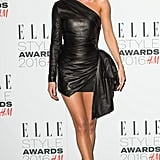 A sexy leather one-shouldered mini showed off Rosie's incredible legs at the Elle Style Awards.