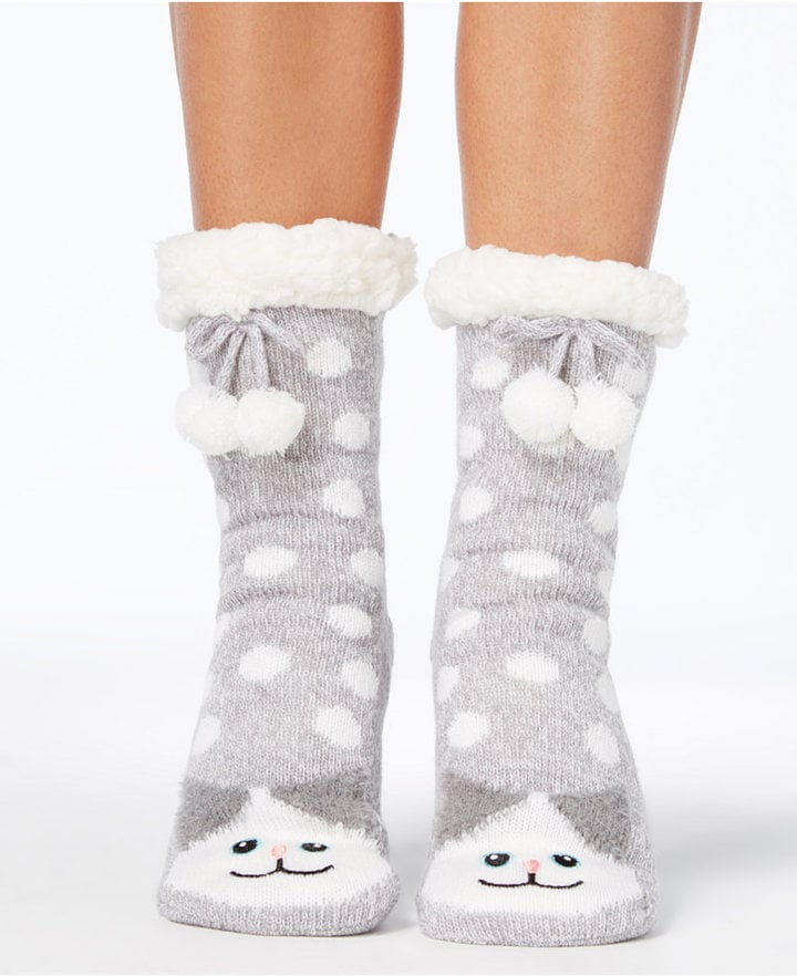 Charter Club Cat Slipper Socks