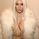 Kim Kardashian's Long Platinum Wig in 2016