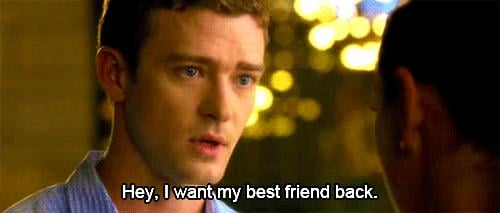 When he gave this puppy-dog look in Friends With Benefits.