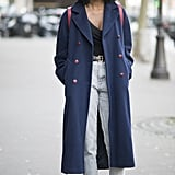 With a tailored coat and your go-to Fall boots