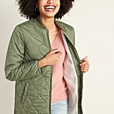 Old Navy Water-Resistant Sherpa-Lined Quilted Jacket