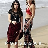 AnnaLynne McCord and Shenae Grimes smiled for the cameras.
