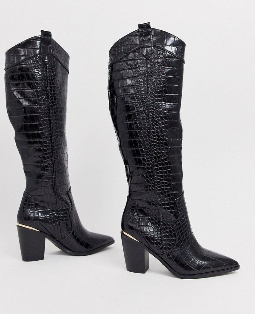 ASOS Design Wide Fit Catch Up Western Boots