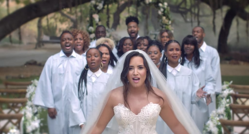 Demi Lovato Wedding Dress In Quot Tell Me You Love Me Quot Video