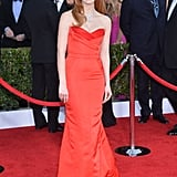 She wore an Alexander McQueen dress to the 2013 Screen Actors Guild Awards.