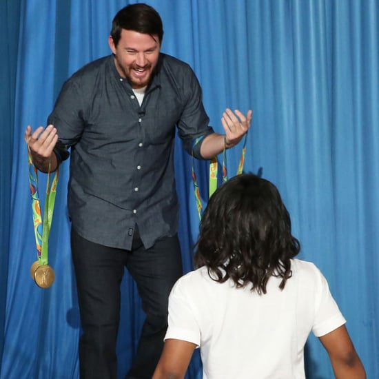Channing Tatum Meeting Simone Biles on Ellen DeGeneres Show