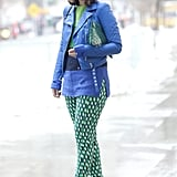 Great prints and bold hues made this outfit one to watch.