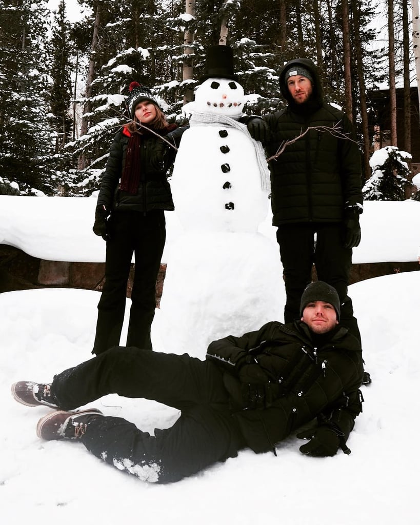 Taylor Swift and Calvin Harris Building a Snowman Together