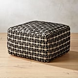 Bonnie: Handwoven Triangle Black and White Pouf
