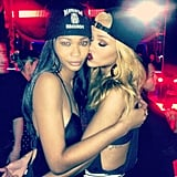 Chanel Iman partied with Rihanna after the singer's concert. Source: Instagram user chaneliman