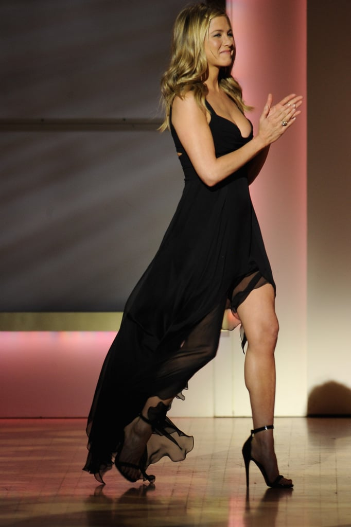 Jennifer Aniston applauded for her friend, Chelsea Handler.