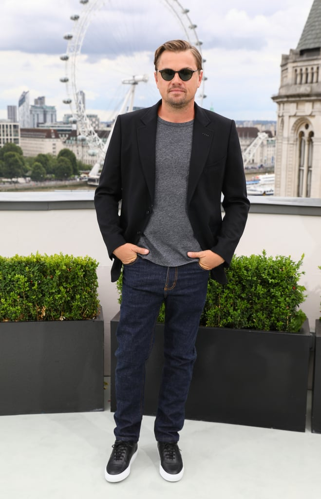 Leonardo DiCaprio at the London photocall of Once Upon a Time in Hollywood.