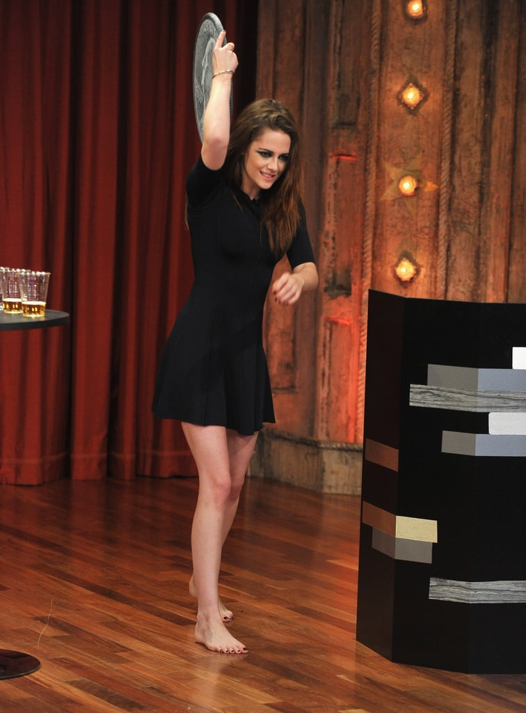 Kristen Stewart played a game on Late Night With Jimmy Fallon.