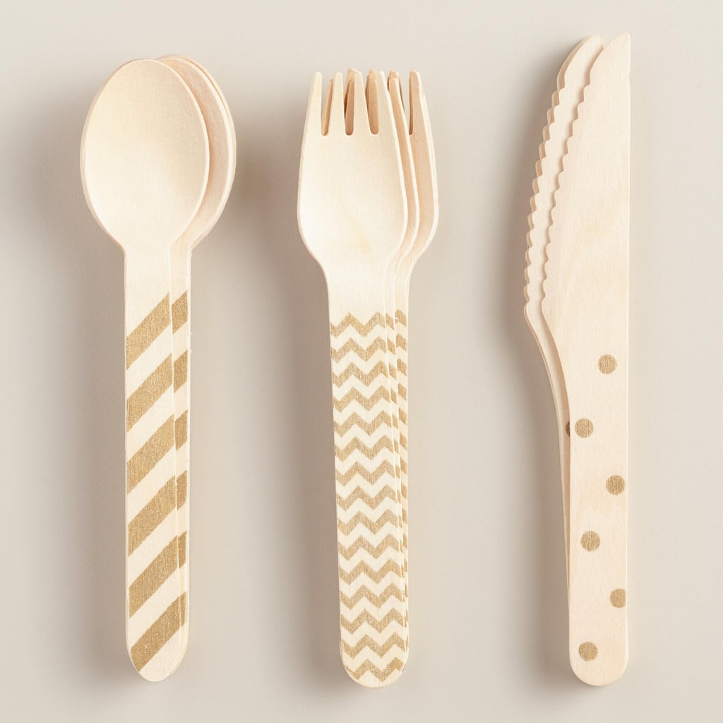 18-Piece Recyclable Wood Cutlery Set ($4, originally $6)
