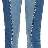 House of Holland Patchwork Denim Skinny Jeans ($333)