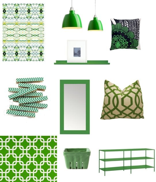 Kelly green decor for st patrick 39 s day popsugar home for Shamrock decorations home