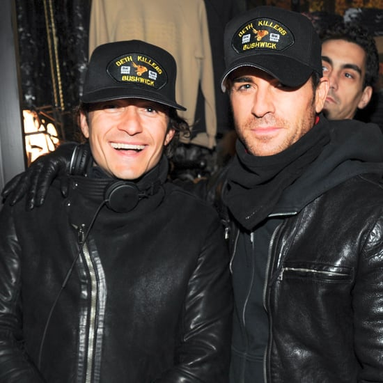 Justin Theroux and Orlando Bloom at Deth Killers Shop