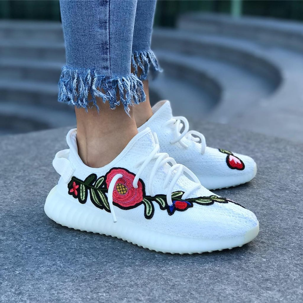 39e588725145 Embroidered Yeezy Boost Sneakers
