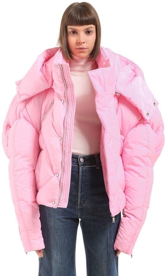 Luisaviaroma Oversize Hooded Nylon Down Jacket