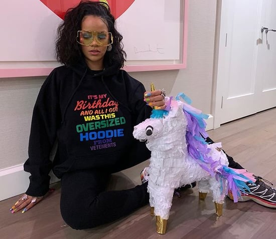 Rihanna's Rainbow Birthday Nails 2019
