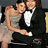 Pictured: Gaten Matarazzo and Millie Bobby Brown