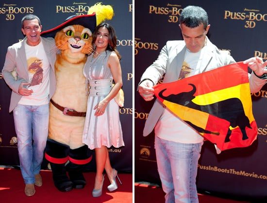 Antonio Banderas and Salma Hayek Pictures at Sydney Puss in Boots Premiere