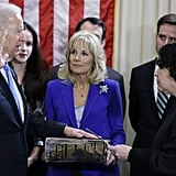 Vice President Joe Biden was sworn in to a second term in a private ceremony on Sunday.