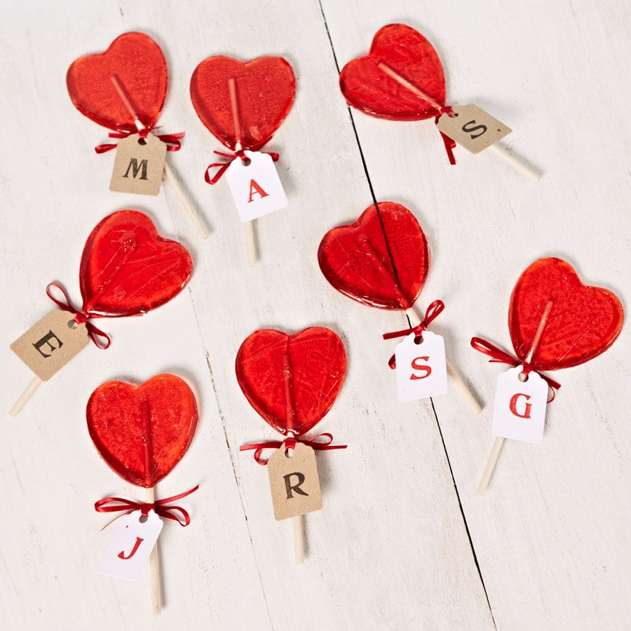 Personalized Heart Shaped Lollipop 3 Each Affordable