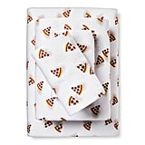 Pizza Flannel Sheet Set
