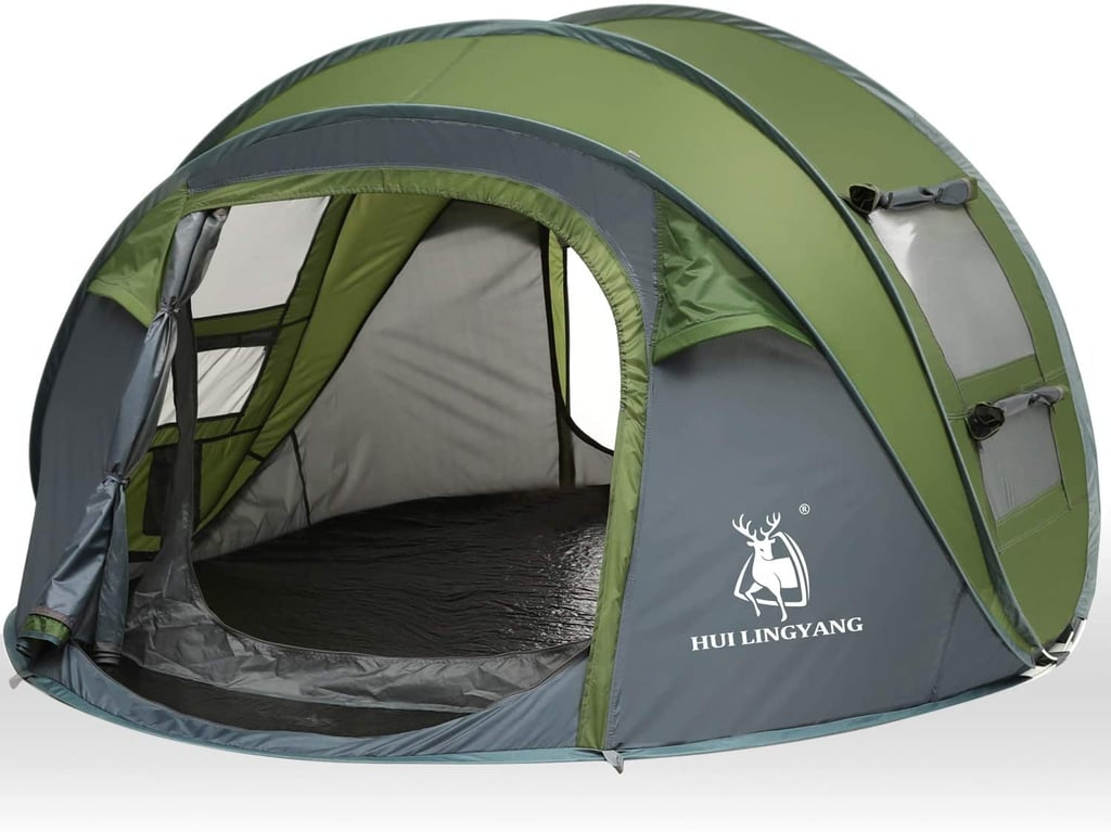 HUI LINGYANG 4 Person Easy Pop Up Tent | Coolest Tents on