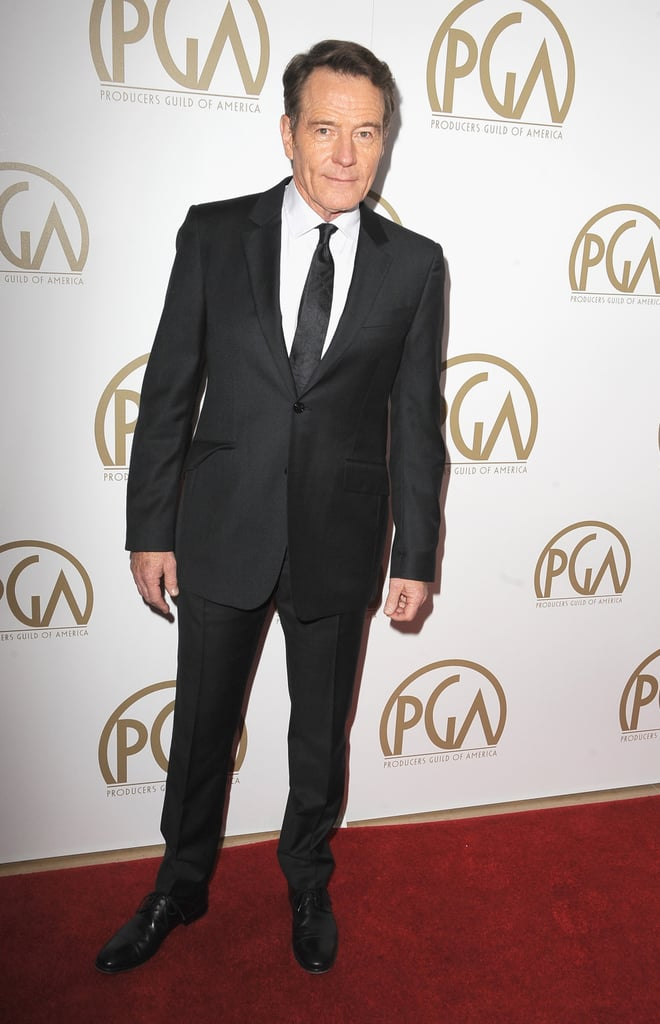 Bryan Cranston wore a dark suit to the event.