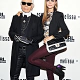 Karl Lagerfeld and Cara Delevingne