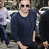 Zac Efron arrived at BBC Radio in London.