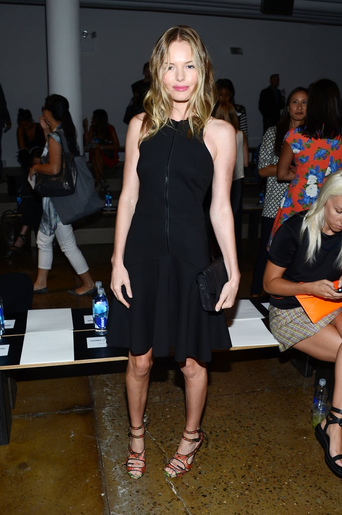 Kate Bosworth showed off a flared LBD and strappy heels at Cushnie et Ochs.