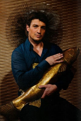 Nathan Fillion in Geek Magazine